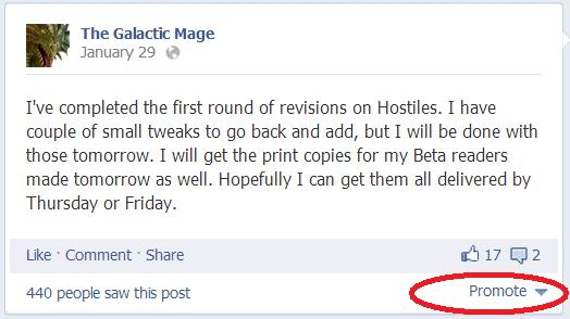 writers facebook marketing promoted post